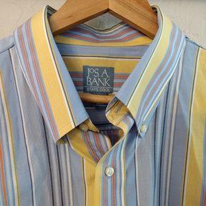 Jos. A Bank Mens Stay Cool SS Dress Shirt XL